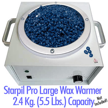 Starpil Blue Beads in Starpil Large Wax Warmer
