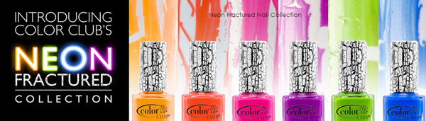 Neon Fractured Polish Display - 54 Polishes by Color Club