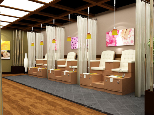 Double paris pedicure station bench by gulfstream for Salon design paris