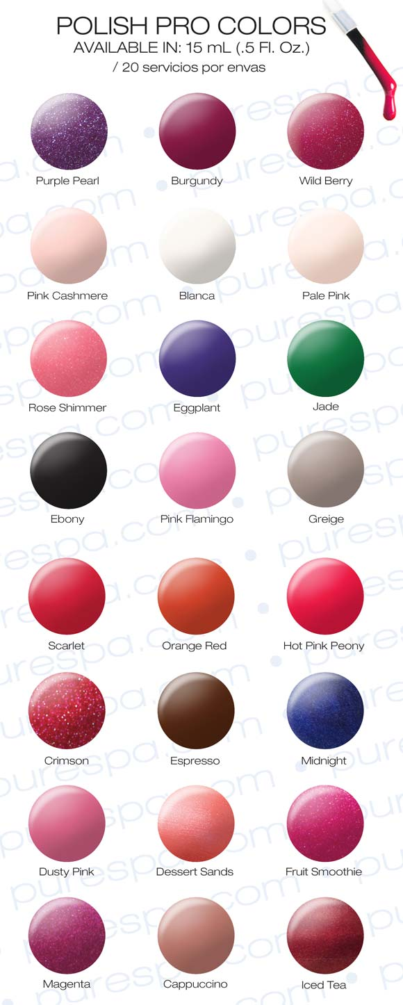 NSI Polish Pro Color Chart
