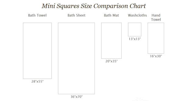 Mini Squares Collection Bath Towel 100 Turkish Cotton