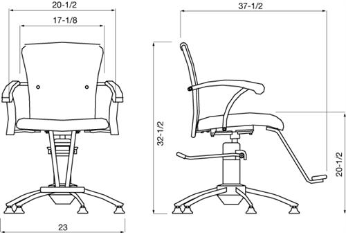 Spa Masters Donata Salon Styling Chair S201