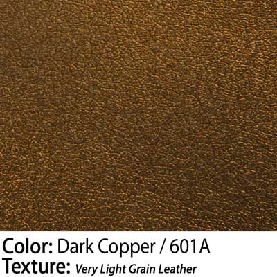 Color: Dark Copper / Texture: Very Light Grain Leather
