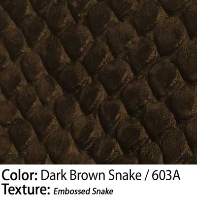 Color: Dark Brown Snake / Texture: Embossed Snake