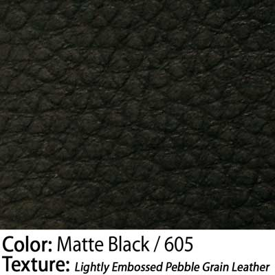 Color: Matte Black / Texture: Lightly Embossed Pebble Grain Leather