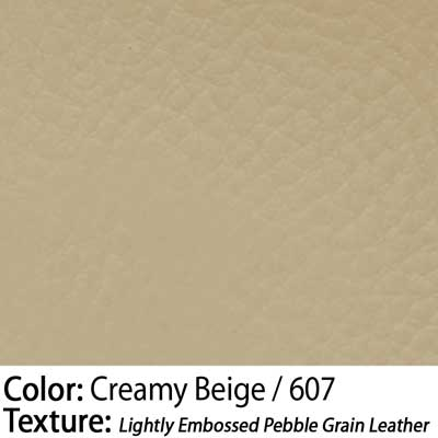 Color: Creamy Beige / Texture: Lightly Embossed Pebble Grain Leather