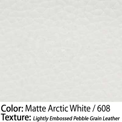 Color: Matte Arctic White / Texture: Lightly Embossed Pebble Grain Leather