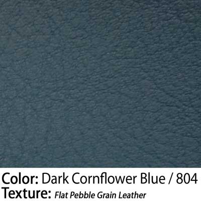 Color: Dark Cornflower Blue / Texture: Flat Pebble Grain Leather