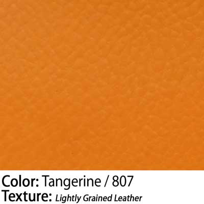 Color: Tangerine / Texture: Lightly Grained Leather