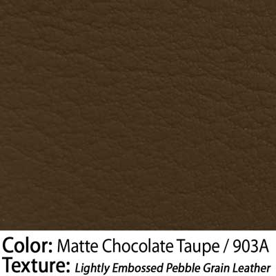 Color: Matte Chocolate Taupe / Texture: Lightly Embossed Pebble Grain Leather