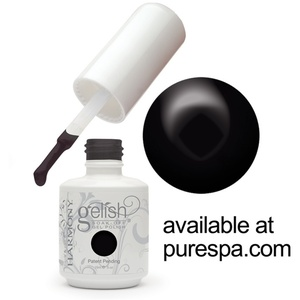 Black Shadow Gelish Color Gel Nail Polish