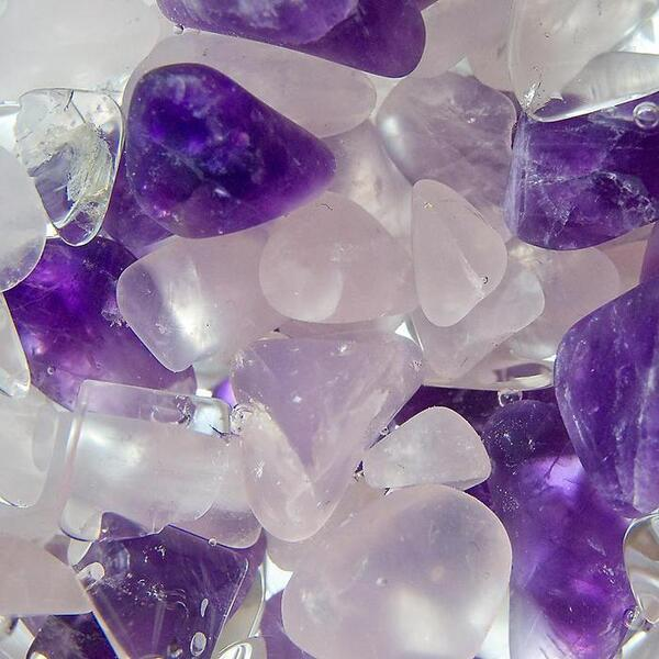 VitaJuwel Gem Water Gemstone Wand - Wellness: Rose Quartz + Amethyst + Rock Crystal