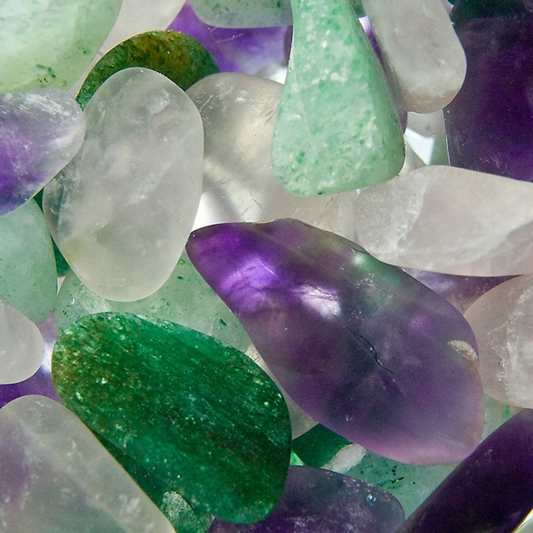 VitaJuwel ViA - Gem Water Bottle - Beauty: Amethyst + Aventurine Quartz + Rose Quartz