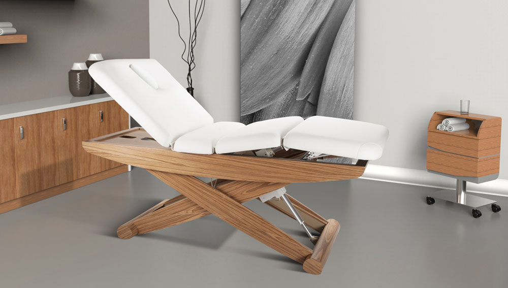 Rikka 3-Motor Electric Multi-Purpose Spa Bed by Silver Spa