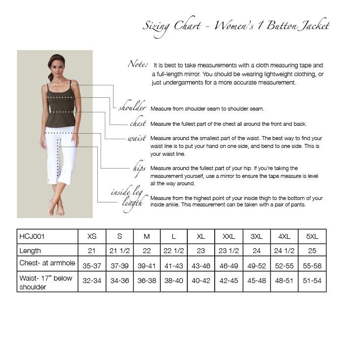 Women s 1 button suit jacket hcj001