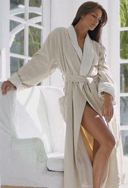 Microfiber Terry Lined Spa Robe