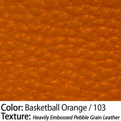 Color: Basketball Orange / Texture: Heavily Embossed Pebble Grain Leather
