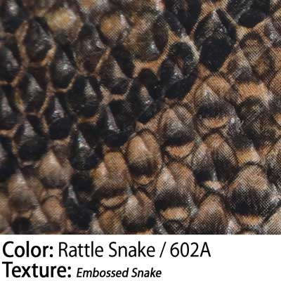 Color: Rattle Snake / Texture: Embossed Snake