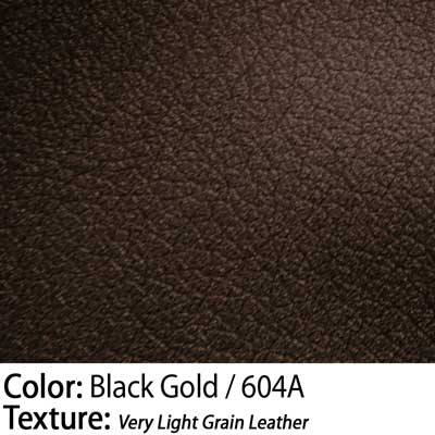 Color: Black Gold / Texture: Very Light Grain Leather
