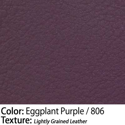 Color: Eggplant Purple / Texture: Lightly Grained Leather