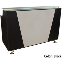 Mikaela Reception Desk with Frosted Glass Top - 6' Wide