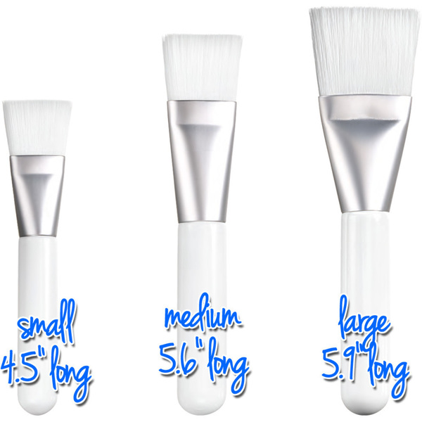 Medium flat multi purpose brush white 5 6 long with 1 for Salon pure lons