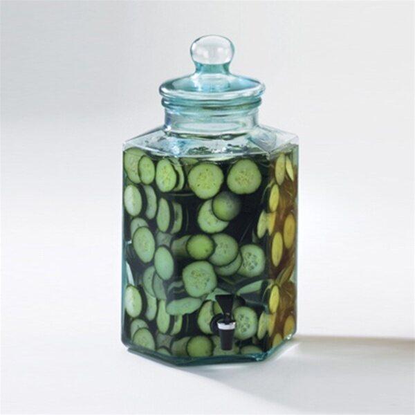 2 Gallon Glass Octagon Infusion Jar 1745